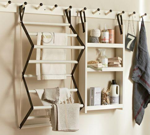 Art/Wall Decor - Gabrielle Laundry System | Pottery Barn - laundry room organizer, laundry room wall system, laundry room system, drying rack,