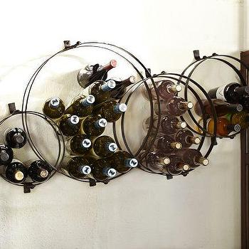 Art/Wall Decor - Circles Wall-Mount Wine Rack | Pottery Barn - wall-mounted wine rack, sculptural wine rack, interlocking circle wine rack,