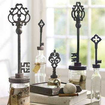 Decor/Accessories - Key Topped Bottles, Set of 3 | Pottery Barn - key topped bottles, key bottles, key lid bottles,