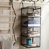 Art/Wall Decor - Kendall Hanging Multi-Shelf | Pottery Barn - hanging wire shelf, hanging muti-shelf, hanging storage shelf,