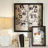 Art/Wall Decor - Rustic Frame Shadow Boxes | Pottery Barn - framed shadow box, family tree shadowbox, linen backed shadowbox,
