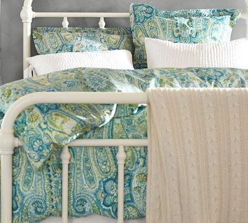Rosalie Paisley Duvet Cover Amp Sham Blue Pottery Barn