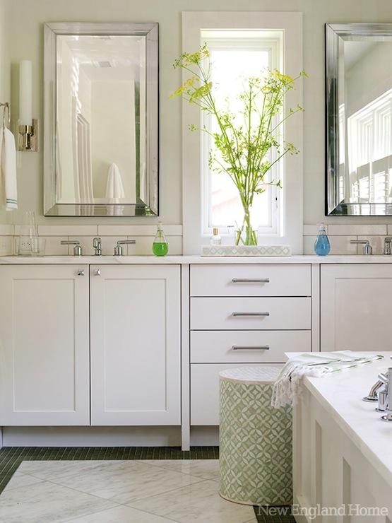 Modern white bathroom cabinets contemporary bathroom for New england bathroom ideas