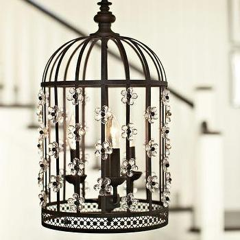 Floral Birdcage Lantern, Pottery Barn