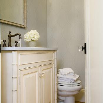 Faux Bamboo Bathroom Vanity, Transitional, bathroom, Lou Lou's Decor