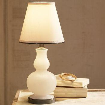 Lighting - Milo Alabaster Accent Lamp | Pottery Barn - alabaster accent lamp, alabaster lamp, alabaster gourd lamp,