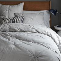 Bedding - Diamond Stitch Cloudcover Quilt + Shams - Platinum | west elm - gray bedding, soft gray bedding, soft gray quilt,