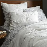 Bedding - Diamond Stitch Cloudcover Quilt + Shams - Stone White | west elm - white bedding, white quilt, white bed linens, white bedding with diamond pattern,