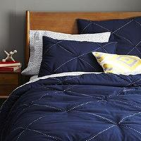 Bedding - Diamond Stitch Cloudcover Quilt + Shams - Night Shade | west elm - dark blue bedding, dark blue quilt, navy blue quilt,