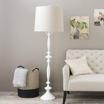 Lighting - Stephen Antonson Nautilus Floor Lamp | west elm - matte white floor lamp, modern white floor lamp, white floor lamp,