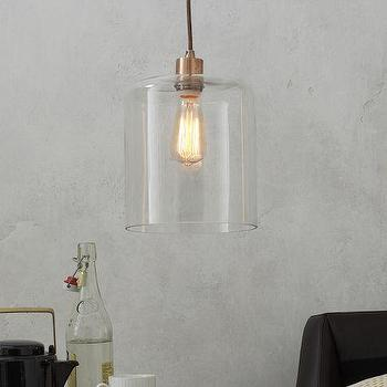 Lighting - Lens Glass Shade | west elm - glass shade, modern glass shade, contemporary glass shade, glass sconce shade,