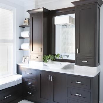 Espresso cabinets modern bathroom terracotta properties for Espresso bathroom ideas