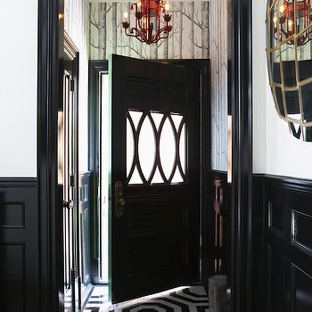 Red Pagoda Chandelier, Eclectic, entrance/foyer, Philip Gorrivan Design