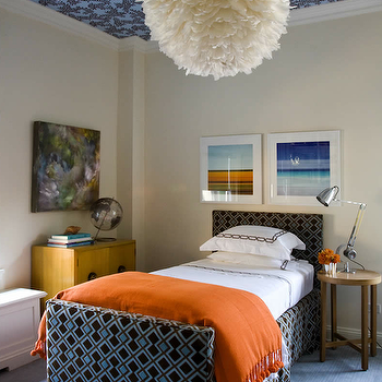 Orange Cashmere Throw, Contemporary, boy's room, Philip Gorrivan Design