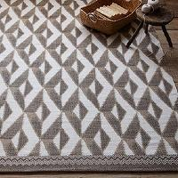 Rugs - Nomad Printed Cotton Dhurrie - Straw | west elm - taupe and white tribal rug, moroccan tribal rug, geometric dhurrie rug, taupe and white dhurrie rug,