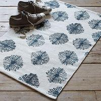 Rugs - Shibori Printed Cotton Dhurrie | west elm - printed dhurrie rug, cotton dhurrie rug, blue and white dhurrie rug,