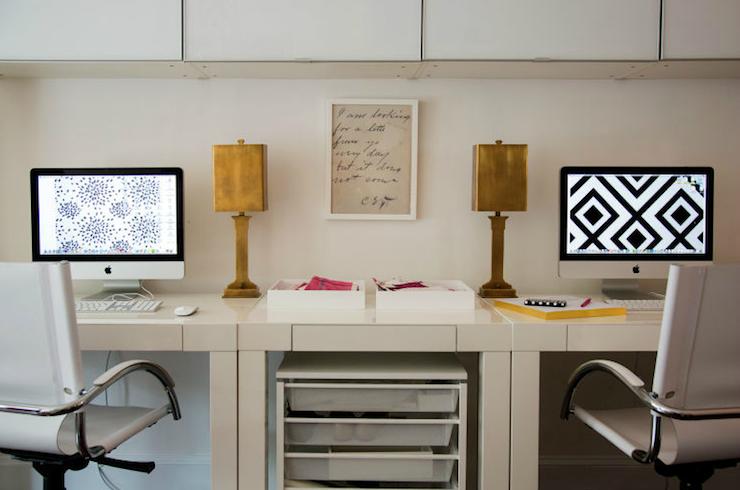 Mini Parsons Desk Contemporary Den Library Office Liz Caan Interiors