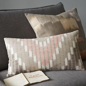 Chevron Stripe Ikat Pillow Cover, west elm