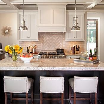 Gray Subway Tile Backsplash, Transitional, kitchen, Refined LLC