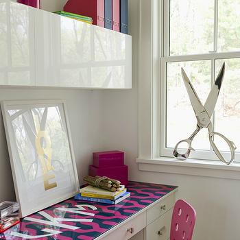 Built In Desk, Contemporary, girl's room, Liz Caan Interiors