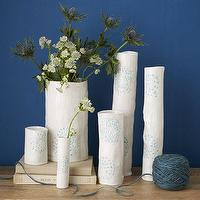 Decor/Accessories - dbO Home Cacti Vases | west elm - ceramic glazed vase, white and blue ceramic vase, ceramic glazed vase,
