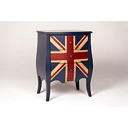 Union Jack 3-Drawer Mini Bombe Chest, Overstock.com