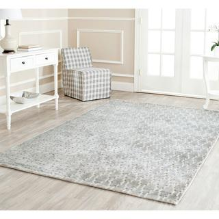 Hand-knotted Mirage Grey Viscose Rug (7' 6 x 9' 6), Overstock.com