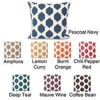 Pillows - Isabella Ikat 20x20-inch Pillow | Overstock.com - blue ikat pillow, brown ikat pillow, yellow ikat pillow, orange ikat pillow, red ikat pillow, teal ikat pillow, purple ikat pillow,