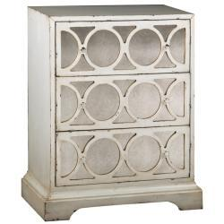 Storage Furniture - Distressed Cream Antiqued Mirror Accent Chest | Overstock.com - antiqued mirror accent chest, cream antiqued mirror accent chest, mirror fronted accent chest,