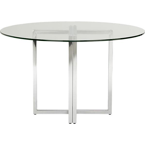 silverado round dining table cb2 On cb2 dining room table