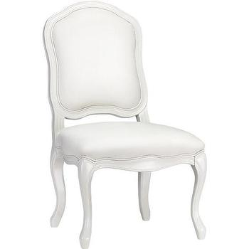 Seating - stick around side chair | CB2 - modern queen anne style chair, modern white side chair, white faux leather side chair,