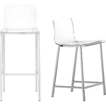 Seating - vapor barstools | CB2 - modern acrylic barstools, acrylic barstools, acrylic and chrome barstools,