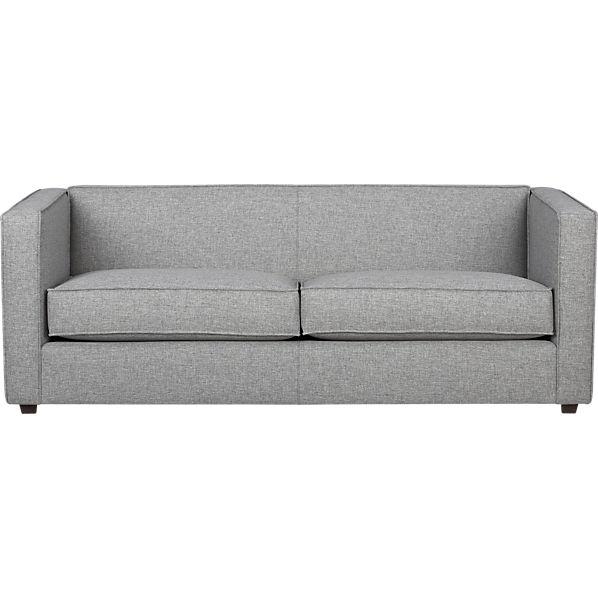 Club grey sofa cb2 Modern sofa grey