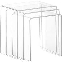 Tables - peekaboo clear nesting tables set of three | CB2 - clear nesting tables, acrylic nesting tables, clear acrylic nesting tables,