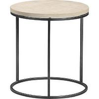 Tables - grind sandstone side table | CB2 - iron and sandstone side table, modern iron side table, modern side table,