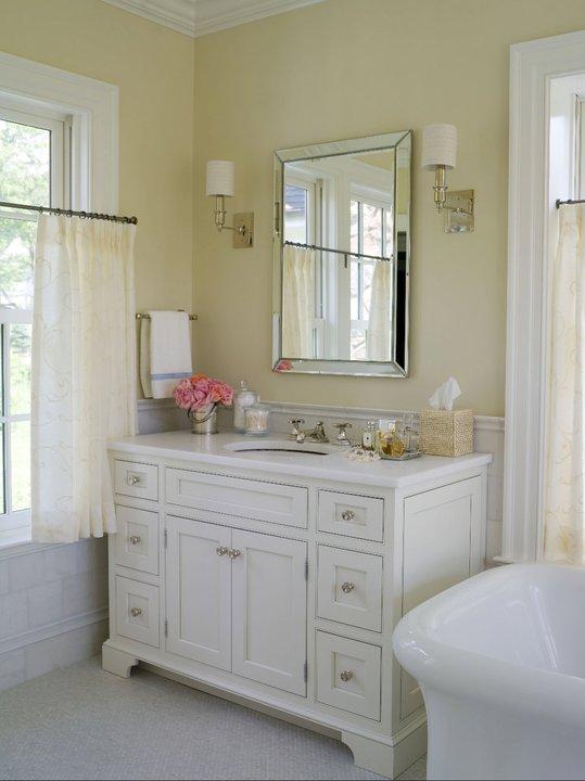 enchanting light yellow bathroom   Marble Top Bathroom Vanity - Traditional - bathroom ...