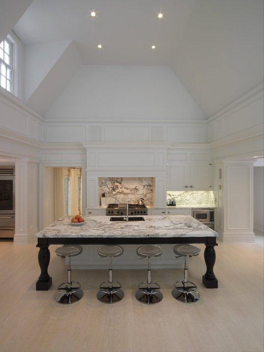 Two Story Kitchen Contemporary Kitchen Alisberg