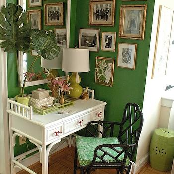 Faux Bamboo Desk, Eclectic, den/library/office, Mythic Paint Hanging Vine, Sanity Fair