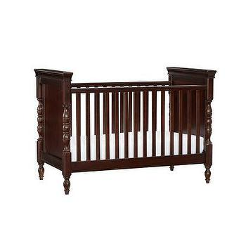 Beds/Headboards - Harper Crib | Pottery Barn Kids - turned wood leg crib, traditional style crib, espresso stained crib,