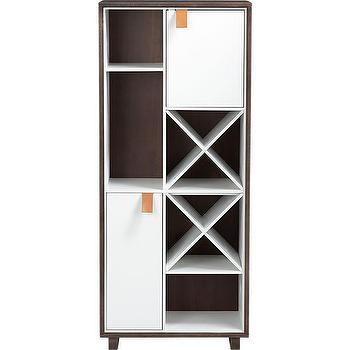 Storage Furniture - root wine cabinet | CB2 - wine cabinet, modern wine cabinet, two-tone wine cabinet,