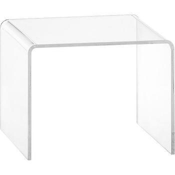 peekaboo clear low side table, CB2