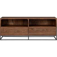 Storage Furniture - prime media console | CB2 - modern media console, modern wood media console, modern industrial media console,