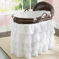 Bedding - Ruffle Bassinet Bedding | Pottery Barn Kids - white bassinet bedding, ruffle bassinet bedding, white ruffle bassinet bedding,
