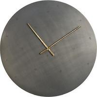 "Art/Wall Decor - iron circle 30"" wall clock I CB2 - modern steel wall clock, steel wall clock, modern industrial wall clock, industrial steel wall clock,"