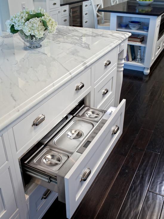 Hidden Warming Drawer Traditional Kitchen Airoom
