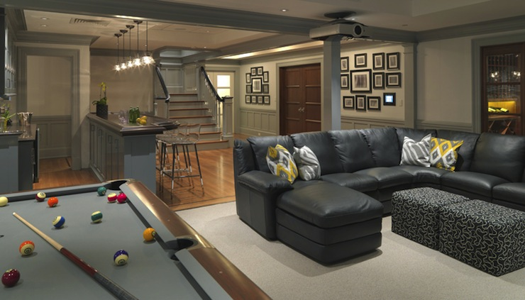 Basement Game Room Contemporary Basement Kate Coughlin Interiors