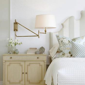 Gray Green Walls, Cottage, bedroom, Sarah Richardson Design