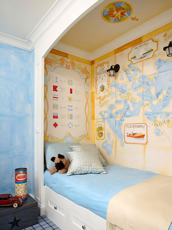 vinatge map wallpaper traditional boy 39 s room bhg