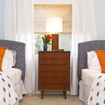 Blue and Orange Boys' Room, Contemporary, boy's room, Turquoise LA