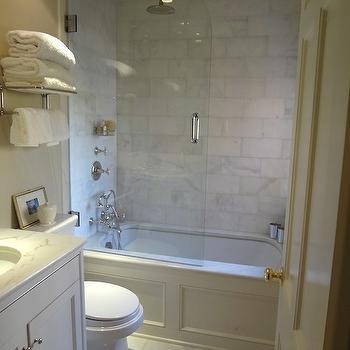 Small Bathroom Glass Shower, Traditional, bathroom